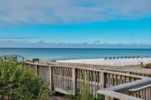 Avalon dunes condo is beachfront in Miramar Beach. This is a private beach walk over.