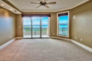 View of the second bedroom at Avalon dunes condo unit 103.