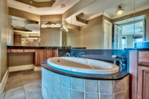 master bathroom and bathtub and Avalon dunes condo